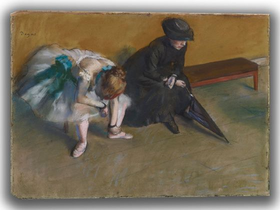 Degas, Edgar: Waiting. Fine Art Canvas. Sizes: A4/A3/A2/A1 (003778)